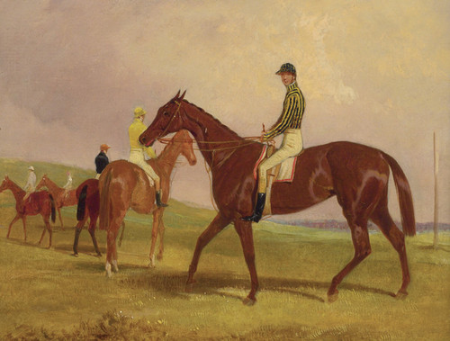 Art Prints of Mince Pie Before the Start of the Oaks by Harry Hall