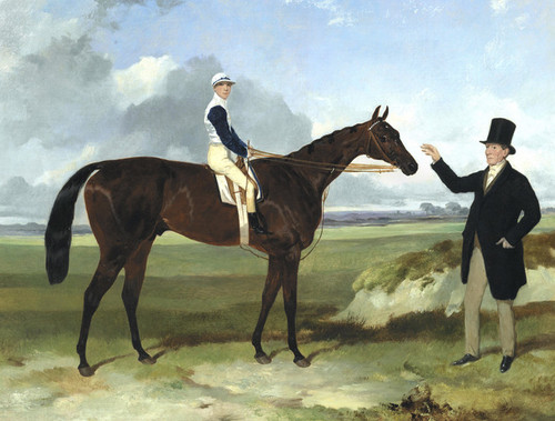 Art Prints of Mounseer with Trainer by Harry Hall