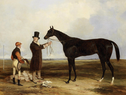 Art Prints of War Eagle Held by His Trainer by Harry Hall