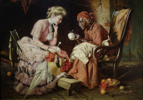Art Prints of Reading Tea Leaves by Harry Roseland