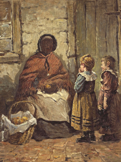 Art Prints of The Orange Seller by Harry Roseland