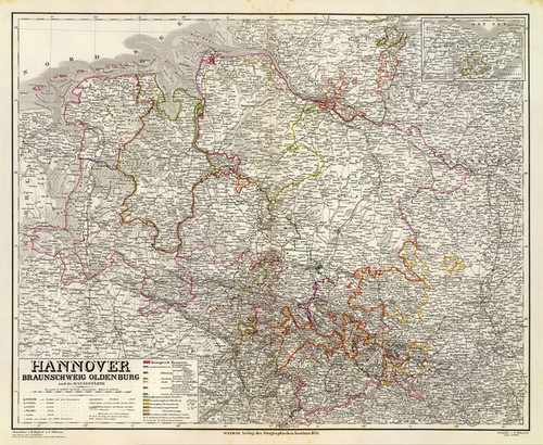 Art Prints of Hannover (2077023) by Kiepert, Ohmann and Geographisches Institut