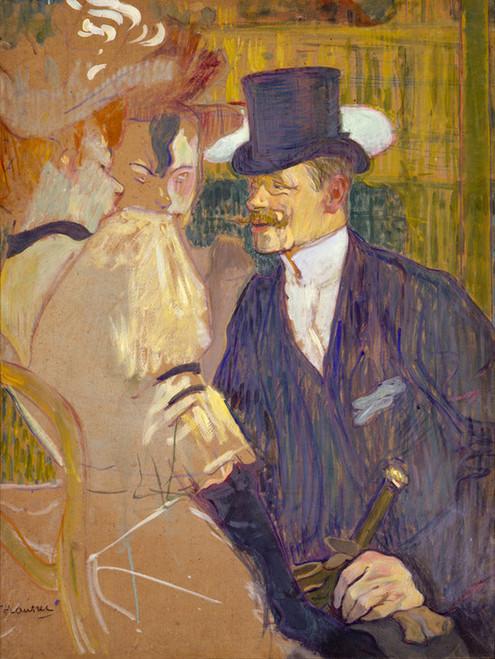 Art Prints of An Englishman at the Moulin Rouge by Henri de Toulouse-Lautrec
