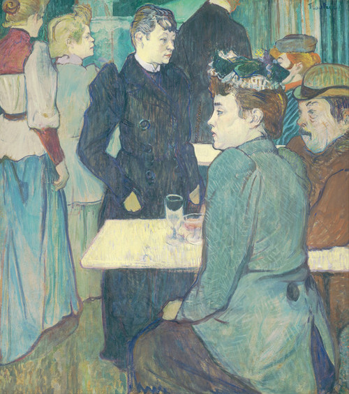 Art Prints of A Corner of the Moulin de la Galette by Henri de Toulouse-Lautrec