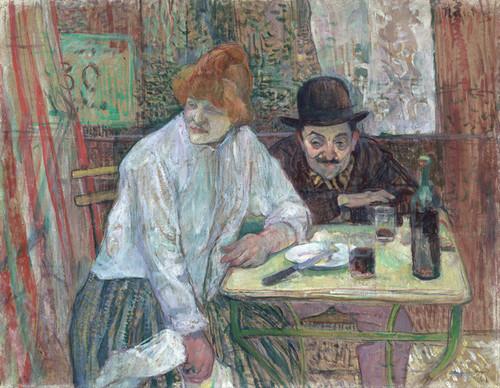 Art Prints of At the Cafe La Mie by Henri de Toulouse-Lautrec