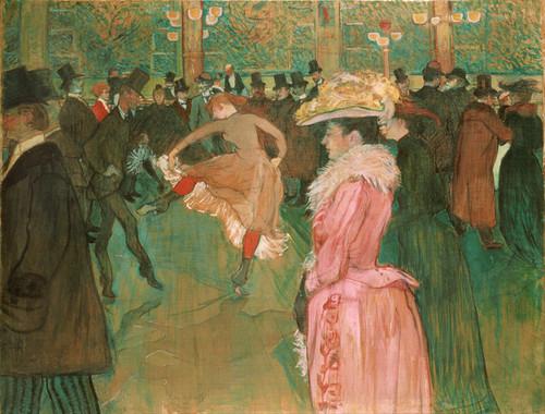 Art Prints of At the Moulin Rouge the Dance by Henri de Toulouse-Lautrec