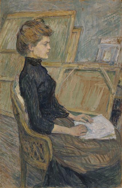 Art Prints of Helene Vary 1889 by Henri de Toulouse-Lautrec
