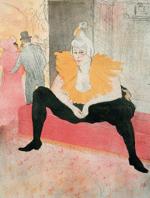 Art Prints of La Clownesse Assise by Henri de Toulouse-Lautrec