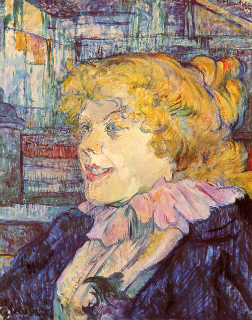Art Prints of Portrait of Miss Dolly from the Le Havre by Henri de Toulouse-Lautrec