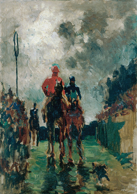 Art Prints of The Jockeys by Henri de Toulouse-Lautrec