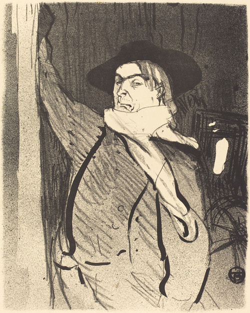 Art Prints of Aristide Bruant, 1893 by Henri de Toulouse-Lautrec