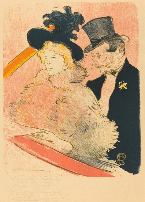 Art Prints of At the Concert, 1896 by Henri de Toulouse-Lautrec