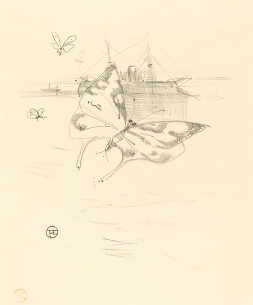 Art Prints of Butterflies, 1895 by Henri de Toulouse-Lautrec