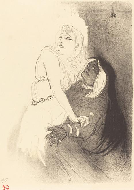 Art Prints of At the Renaissance, Sarah Bernhardt by Henri de Toulouse-Lautrec