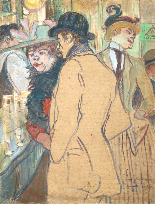 Art Prints of Alfred la Guigne, 1894 by Henri de Toulouse-Lautrec