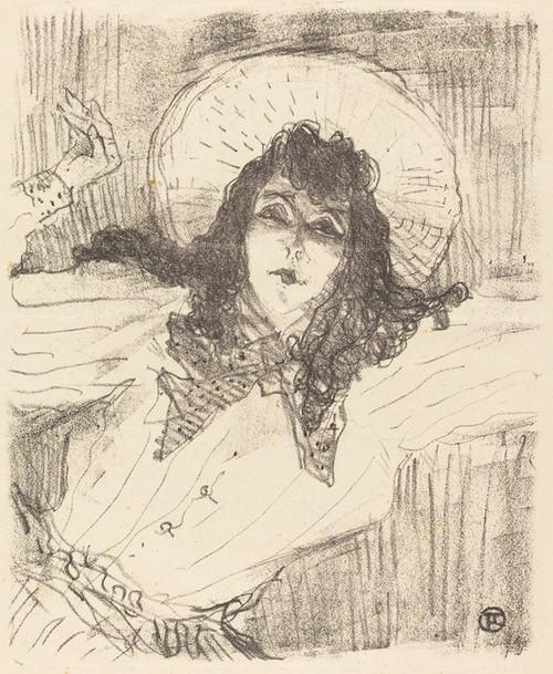 Art Prints of Eva Lavalliere, 1896 by Henri de Toulouse-Lautrec