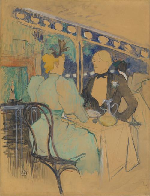 Art Prints of Fashionable People at Les Ambassadeurs by Henri de Toulouse-Lautrec