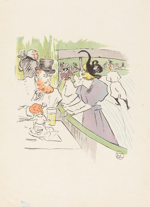 Art Prints of In the Skating Professional Beauty, 1895 by Henri de Toulouse-Lautrec