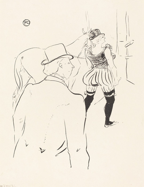 Art Prints of In the Wings of the Folies Bergere, 1895 by Henri de Toulouse-Lautrec