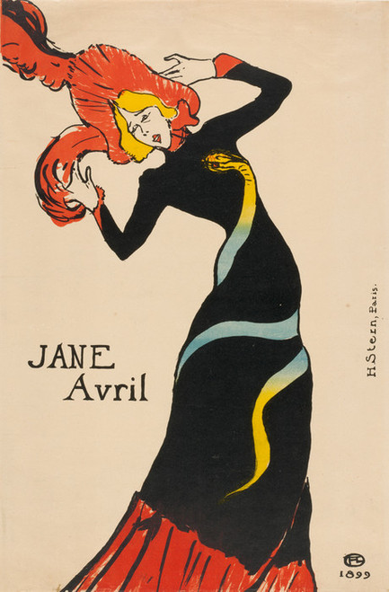 Art Prints of Jane Avril, 1899 by Henri de Toulouse-Lautrec