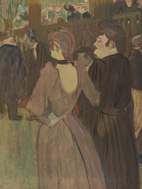 Art Prints of La Goulue and Her Sister by Henri de Toulouse-Lautrec