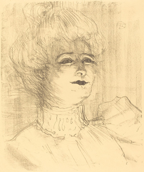 Art Prints of Jeanne Hading, 1896 by Henri de Toulouse-Lautrec