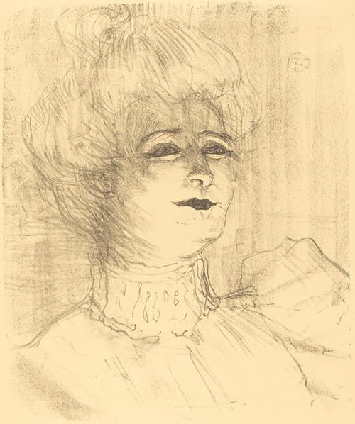 Art Prints of Jeanne Hading, 1896 by Henri de Toulouse-Lautrec