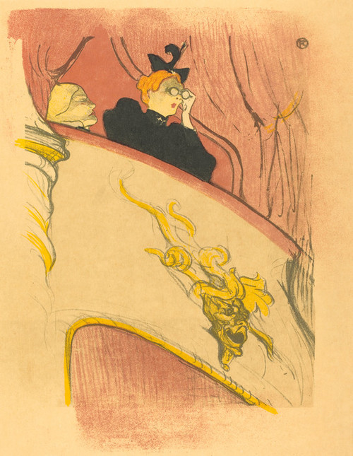 Art Prints of Loge with the Gilt Mask, 1893 by Henri de Toulouse-Lautrec