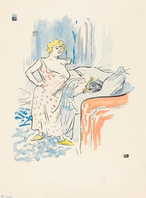 Art Prints of Man and Woman by Henri de Toulouse-Lautrec