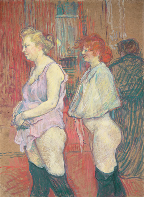 Art Prints of Rue des Moulins, 1894 by Henri de Toulouse-Lautrec