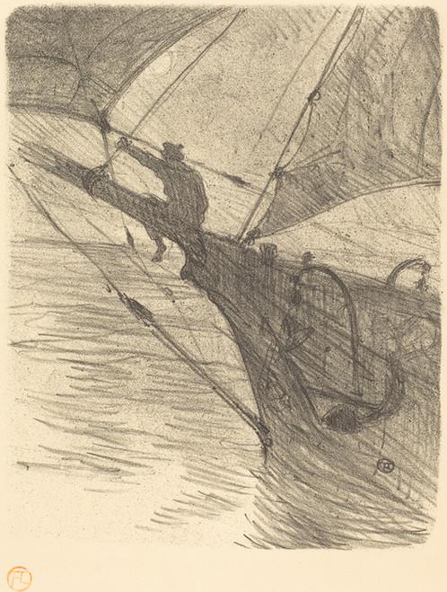 Art Prints of Oceano Nox, 1895 by Henri de Toulouse-Lautrec