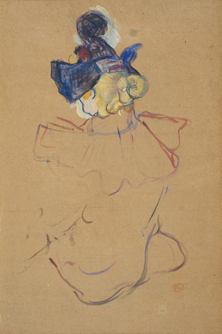Art Prints of Seated Woman, Study for Au Moulin Rouge by Henri de Toulouse-Lautrec