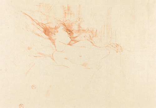 Art Prints of Sleep, 1896 by Henri de Toulouse-Lautrec