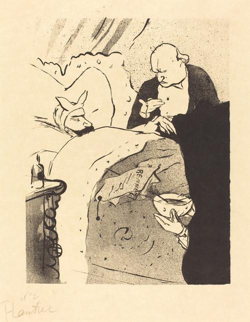 Art Prints of Sick Carnot, 1893 by Henri de Toulouse-Lautrec