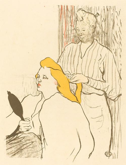 Art Prints of The Hairdresser, Theatre Libre by Henri de Toulouse-Lautrec