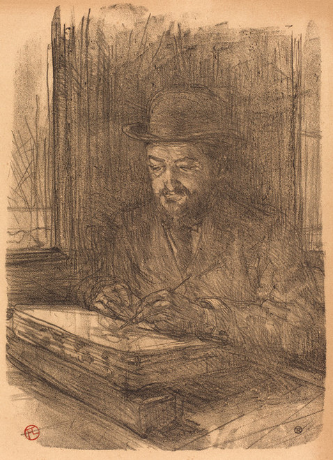 Art Prints of The Fine Printmaker, Adolphe Albert, 1898 by Henri de Toulouse-Lautrec
