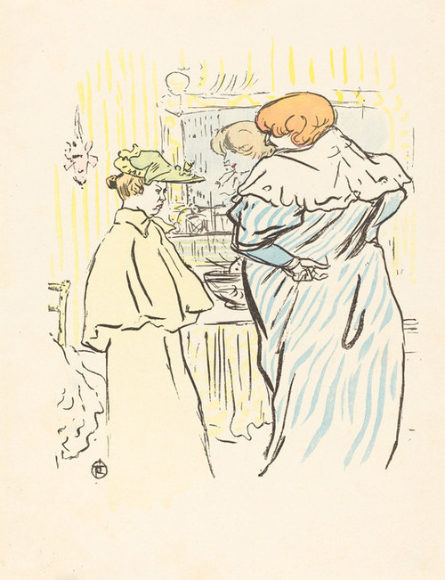 Art Prints of Two Women before a Mirror by Henri de Toulouse-Lautrec