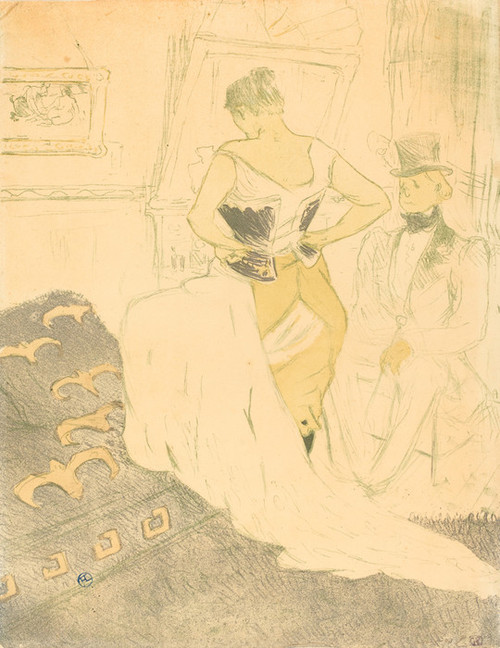 Art Prints of Woman in Corset, 1896 by Henri de Toulouse-Lautrec