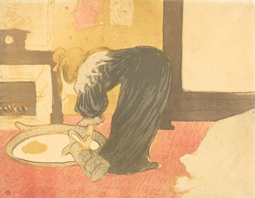 Art Prints of Woman at the Tub by Henri de Toulouse-Lautrec