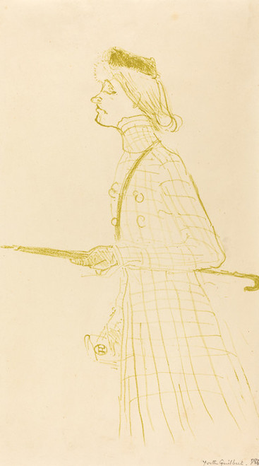 Art Prints of Yvette Guilbert, 1894 by Henri de Toulouse-Lautrec