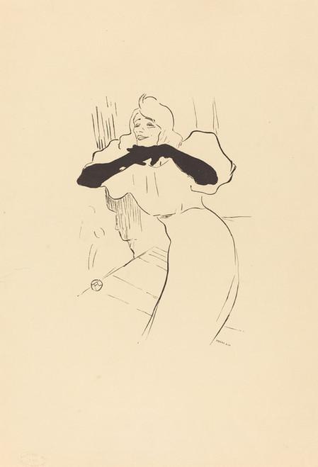 Art Prints of Yvette Guilbert, Linger Longer Loo by Henri de Toulouse-Lautrec