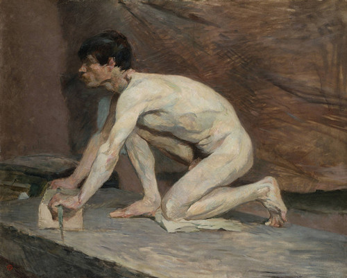 Art Prints of The Marble Polisher by Henri de Toulouse-Lautrec