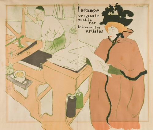 Art Prints of Couverture de L'Estampe originale by Henri de Toulouse-Lautrec