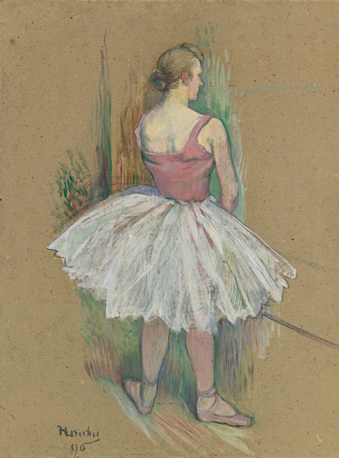 Art Prints of Dancer in the Wings, Back View by Henri de Toulouse-Lautrec
