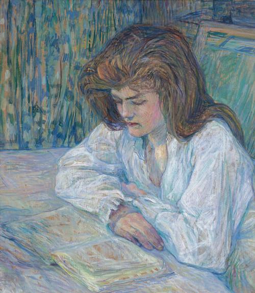 Art Prints of La Liseuse by Henri de Toulouse-Lautrec