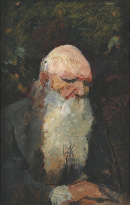 Art Prints of Old Man, Side Profile by Henri de Toulouse-Lautrec