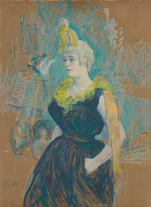 Art Prints of The Clowness, Cha-U-Kao by Henri de Toulouse-Lautrec