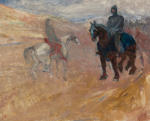 Art Prints of Two Knights in Armour by Henri de Toulouse-Lautrec