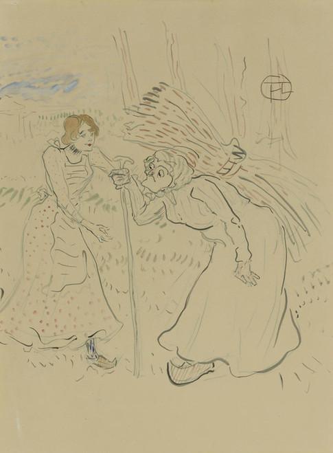 Art Prints of Two Legendary Sisters I by Henri de Toulouse-Lautrec