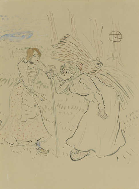 Art Prints of Two Legendary Sisters I by Henri de Toulouse-Lautrec